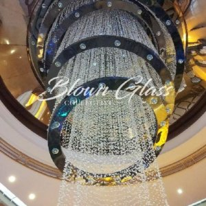 Crystal Waterfall Hand Blown Glass Chandelier - Blown Glass Collective