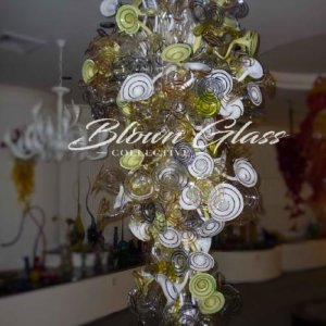 Lily Landing Hand Blown Glass Chandelier - Blown Glass Collective