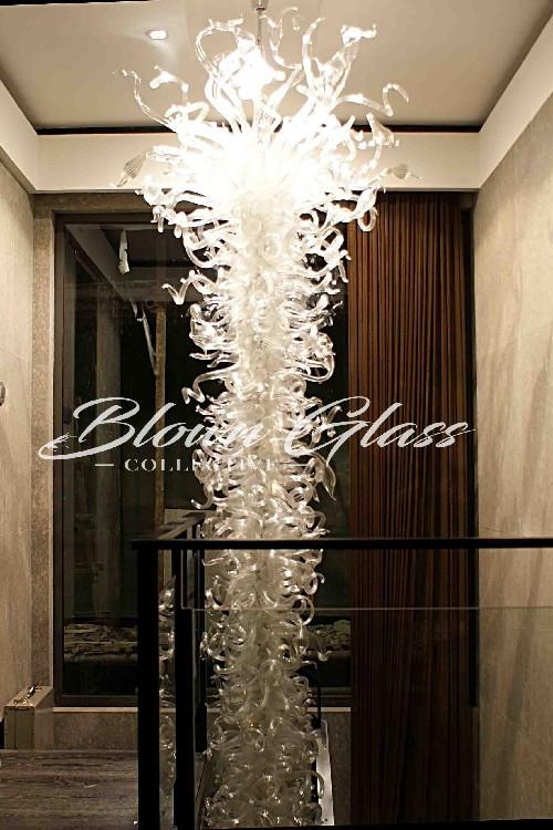 Crystal Cadence Hand Blown Glass Chandelier - Blown Glass Collective