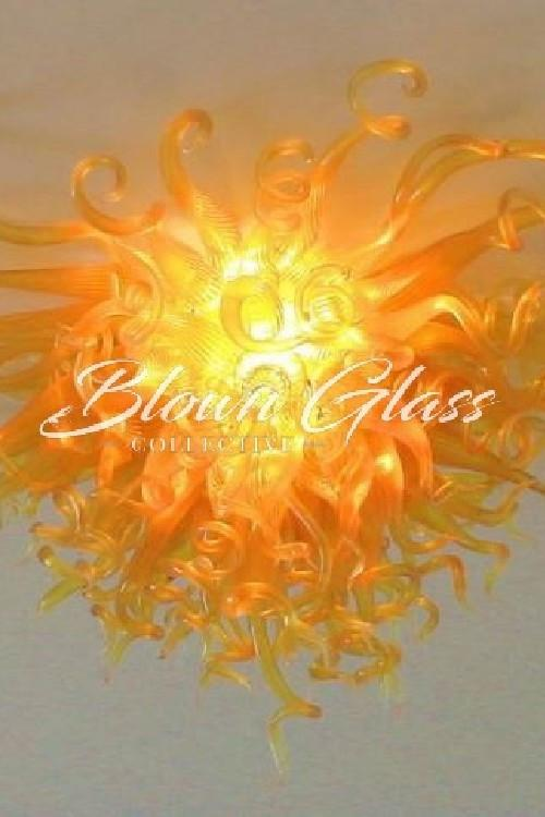 Golden Dawn Hand Blown Glass Chandelier - Blown Glass Collective
