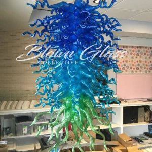 The Waterfall Hand Blown Glass Chandelier - Blown Glass Collective