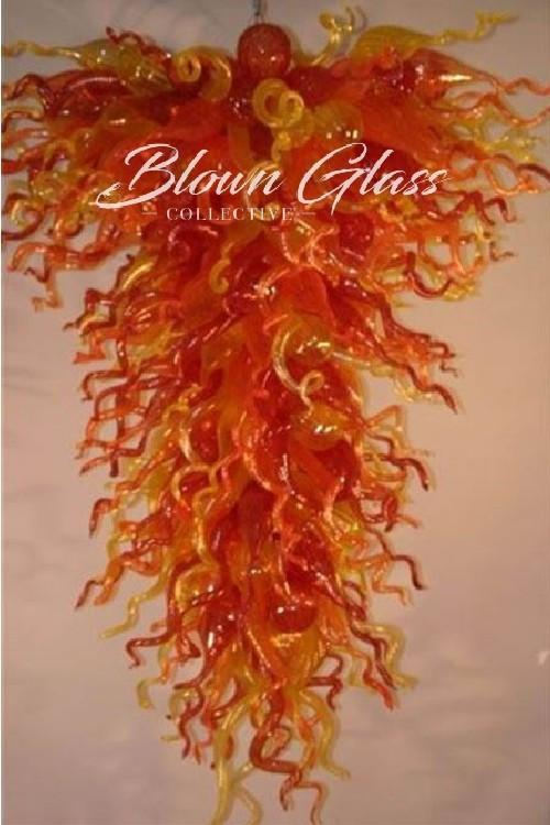 Some Like It Hot Hand Blown Glass Chandelier - Blown Glass Collective