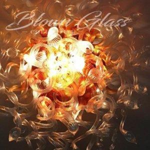 Amber Medusa Hand Blown Glass Chandelier - Blown Glass Collective