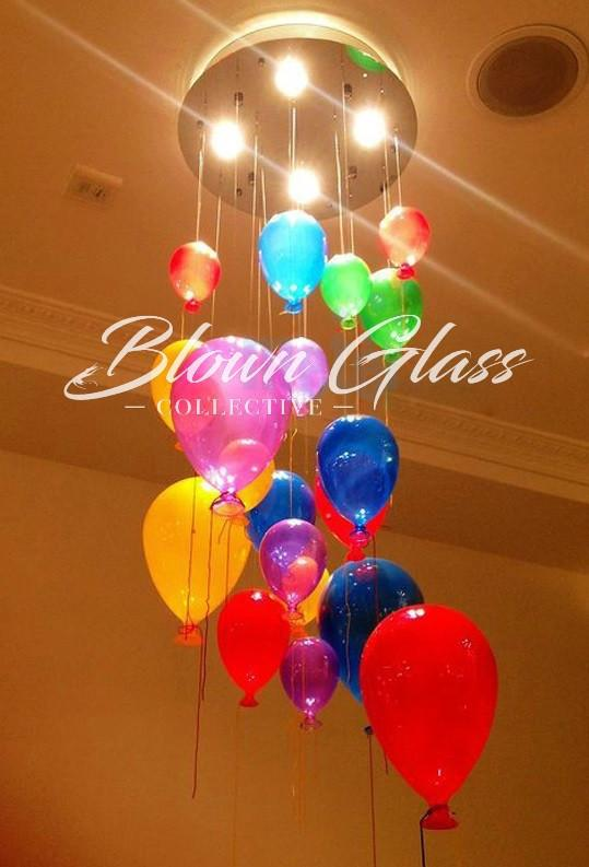 Child's Play Hand Blown Glass Chandelier - Blown Glass Collective