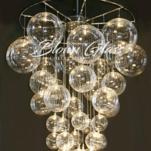 Celestial Molecules Hand Blown Glass Chandelier - Blown Glass Collective