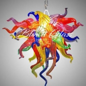Crayons Exploding Hand Blown Glass Chandelier - Blown Glass Collective