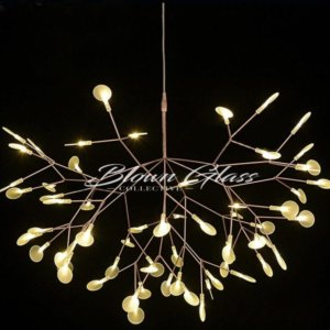 Twinkling Twilight Hand Blown Glass Chandelier - Blown Glass Collective