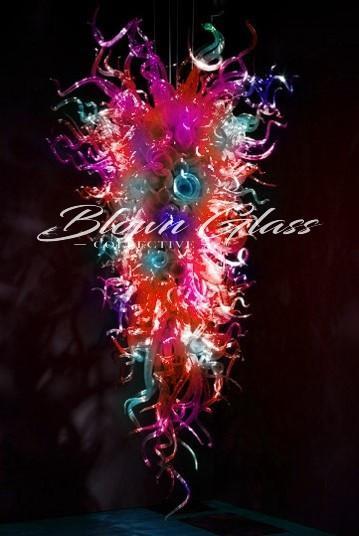 Mardi Gras Hand Blown Glass Chandelier - Blown Glass Collective
