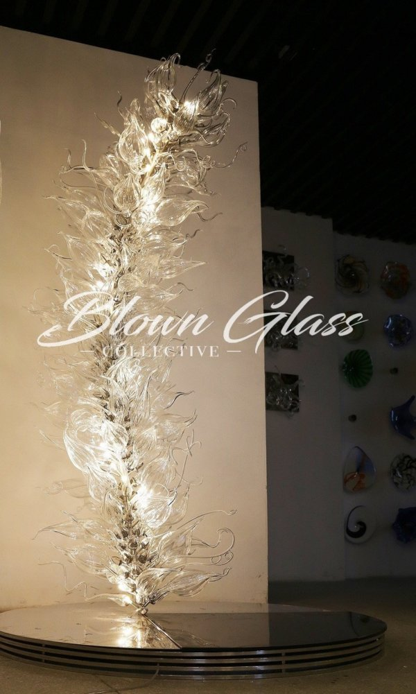 Crystal Blooming Hand Blown Glass Chandelier - Blown Glass Collective