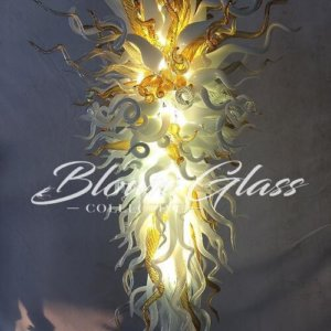 Milk and Honey Hand Blown Glass Chandelier - Blown Glass Collective