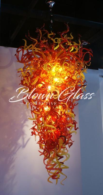 Rising Sun Hand Blown Glass Chandelier - Blown Glass Collective