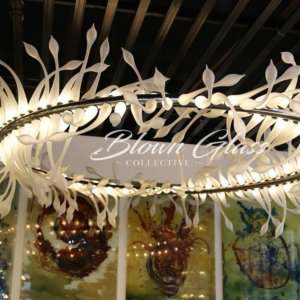 Ring of Lilies Hand Blown Glass Chandelier - Blown Glass Collective