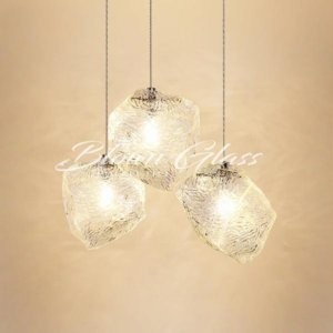 Blown Glass Pendant Lights - Rock Candy - Blown Glass Collective