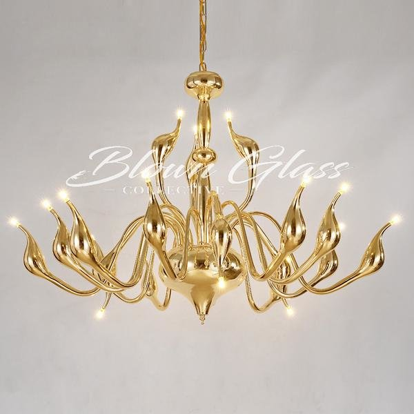Golden Glory Chandelier - Blown Glass Collective