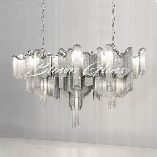Dining Room Chandeliers - Metallic Mayhem - Blown Glass Collective