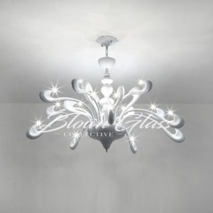 Dining Room Chandeliers - White Whimsy - Blown Glass Collective