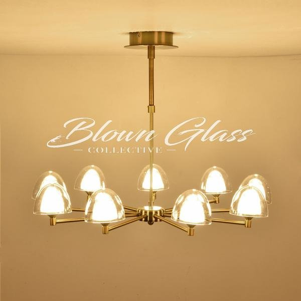 Kitchen Chandeliers - Tulip Bulbs - Blown Glass Collective