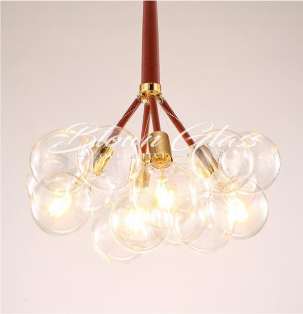 Modern Dining Room Chandeliers - Global Motion (red) - Blown Glass Collective