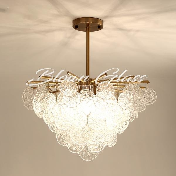 Small Chandeliers - Glass Medallions - Blown Glass Collective