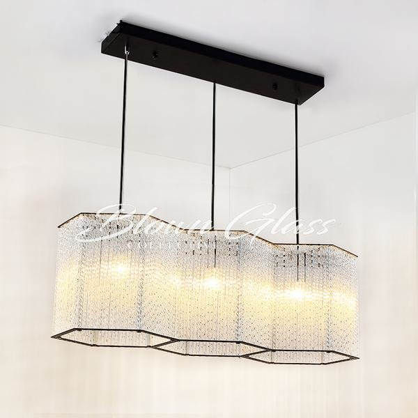 Kitchen Island Chandeliers - Hex Happiness - Blown Glass Collective
